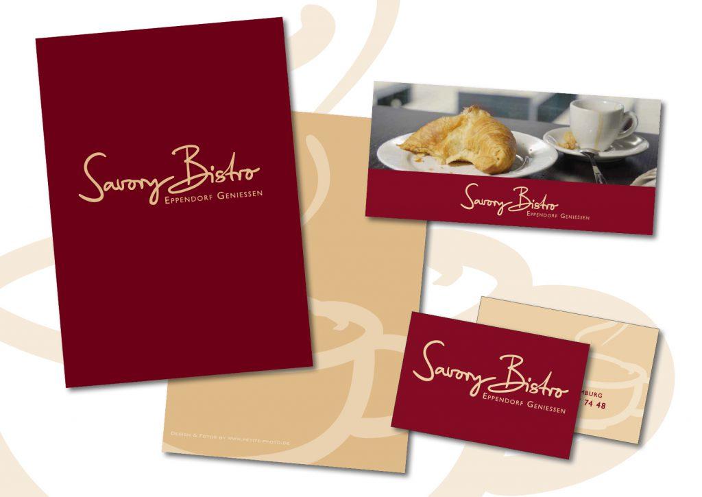Logo und Geschäftsausstattung Savory Bistro