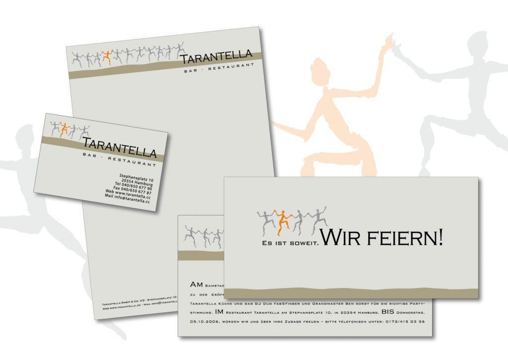 Logo und Geschäftsausstattung für Tarantella
